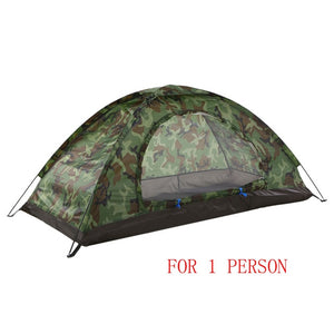 TOMSHOO Portable Tent Camouflage 1/2 Person Tent Double Layer Waterproof - Outdoor - YourProStore outdoor survival garden house