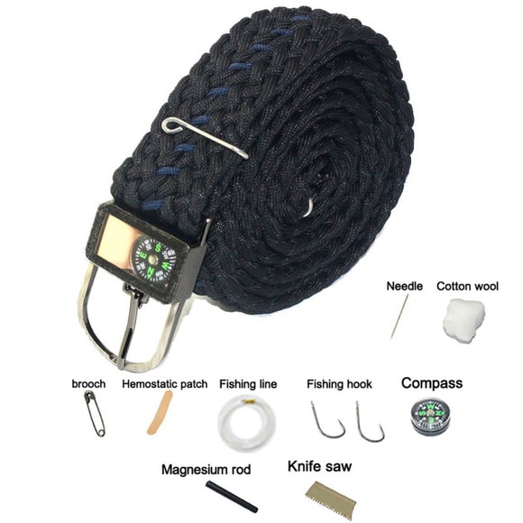 Safety Survival Tool Umbrella Rope Belt Multi-functional - Survival Kit