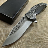 Folding Knife 7Cr17Mov Blade Wood Handle 21MM - Knife