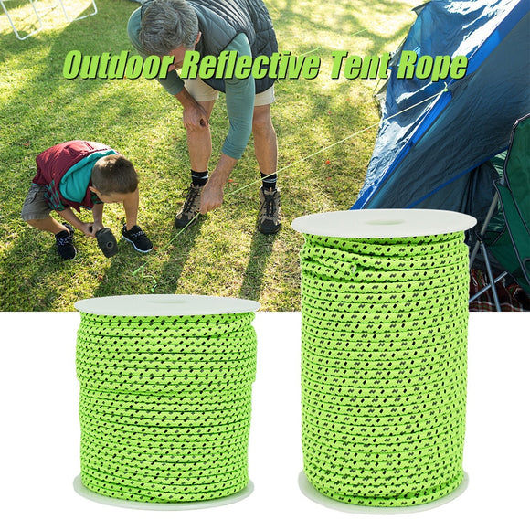 2.5mm / 4mm 50M Reflective Tent Guyline Rope - Outdoor - YourProStore outdoor survival garden house