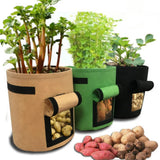 Plant Bag Potato Grow Container Bag DIY Planter PE Cloth - Garden & House