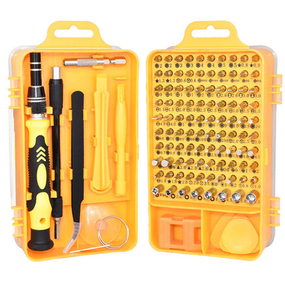 115 In 1 Precision Screwdriver Kit Set CR-V Steel - Tools
