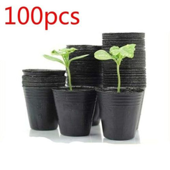 100 pcs Plant Nursery Room Pots Plants Garden Nursery - Garden & House