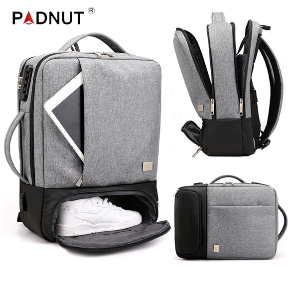 Backpack Multifunctional Anti Theft Laptop Student USB Charging Waterproof - Backpack