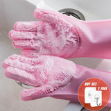 2PCS Multifunction Silicone Cleaning Gloves - Garden & House