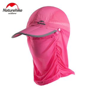 Naturehike Foldable Sun Protection Breathable Mosquito Duck Tongue Cap - Anti Mosquito