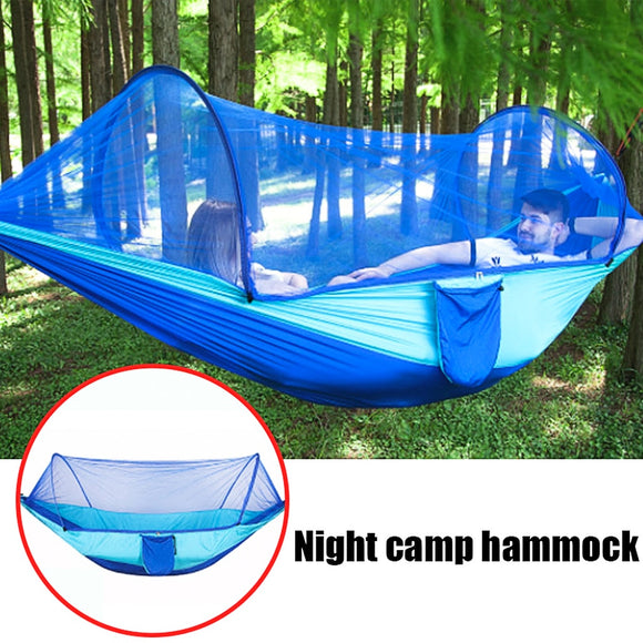 Parachute Hammock Tent Portable Hanging Sleeping Bed High Strength 250x120cm - Mosquito Net