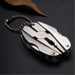 Portable Multifunction Folding Plier Stainless Steel - Knife