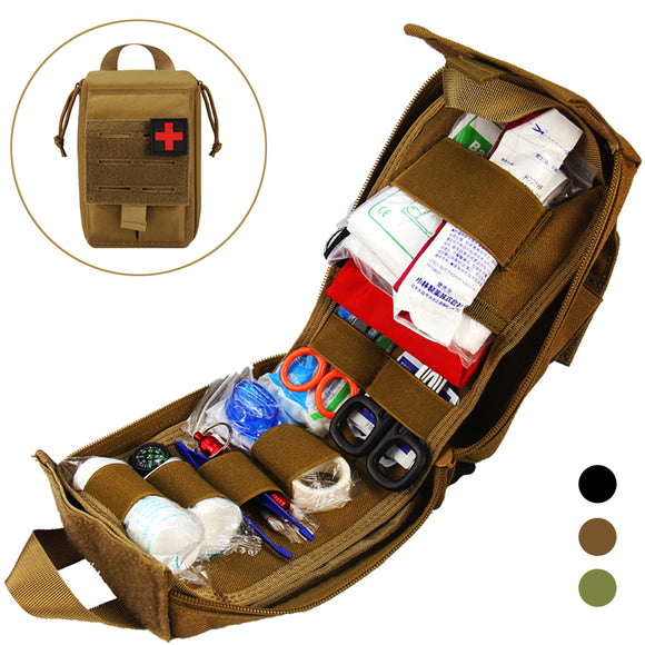 Tactical First Aid Kit Survival Bag 1000D Nylon Emergency & Military - Survival Kit