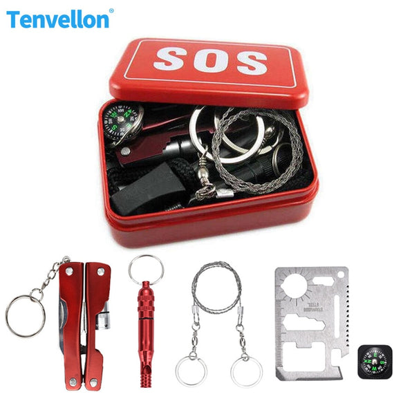 Survival Safety Survival Case Kit Emergency SOS - Survival Kit