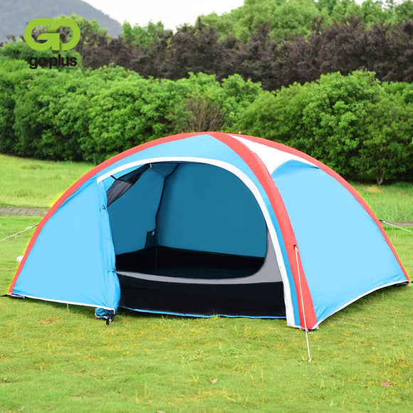 3 Persons Inflatable Camping Waterproof Tent with Bag - Tent