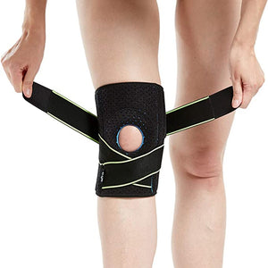 Knee Brace Support (1), Open-Patella Stabilizer with Adjustable Strap - Sports & Fitness