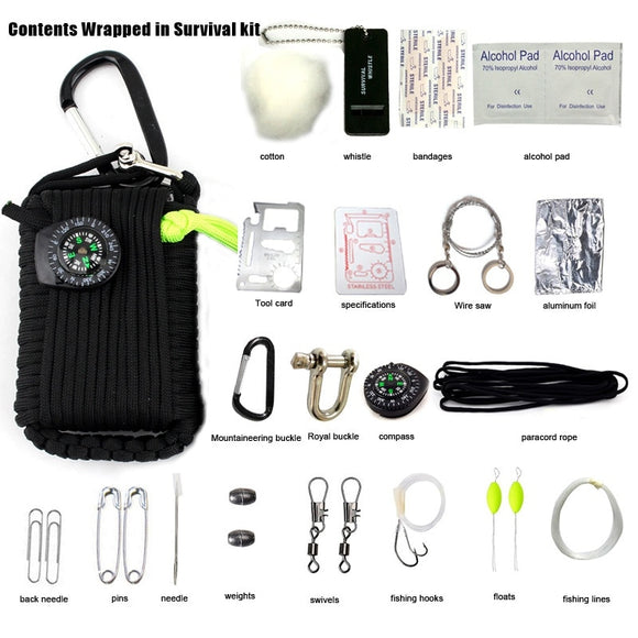 20pcs in 1 SOS Emergency Equipment emergency bag - Survival Kit