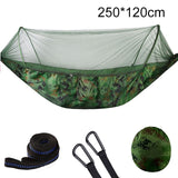 1-2 Person Portable Hammock with Mosquito Net High Strength - Mosquito Net