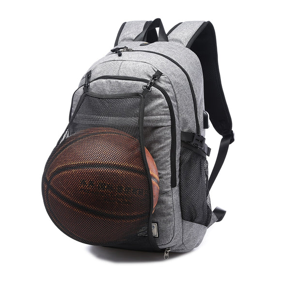 USB Backpack Canvas for Teenager Ball Bag Multifunction - Backpack