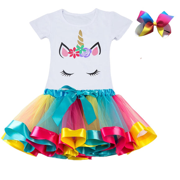Unicorn Clothing Sets Baby Girls Clothes Summer Princess - Kids