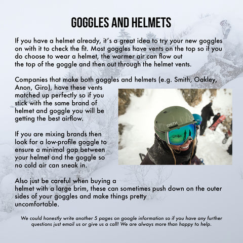 Goggles and Helmets