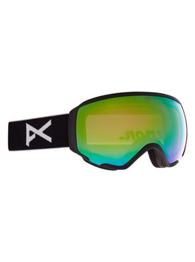 ANON WOMENS WM1 MFI GOGGLES 2021 BLACK/VARIABLE GREEN