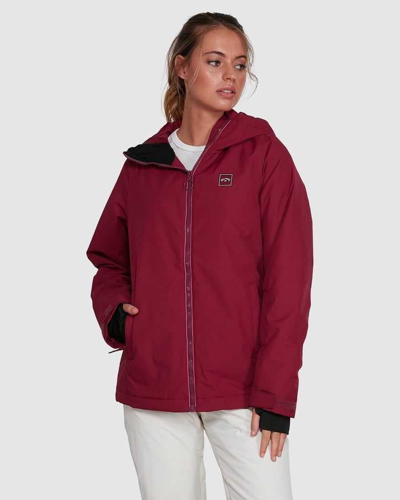 Ruby Wine Billabong Sula Women's Snowboard or Ski Jacket