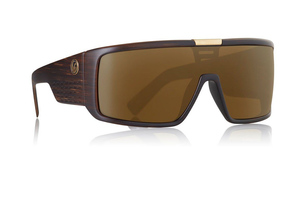 DRAGON DOMO SUNGLASSES Matte Woodgrain Luma Lens Copper Ion