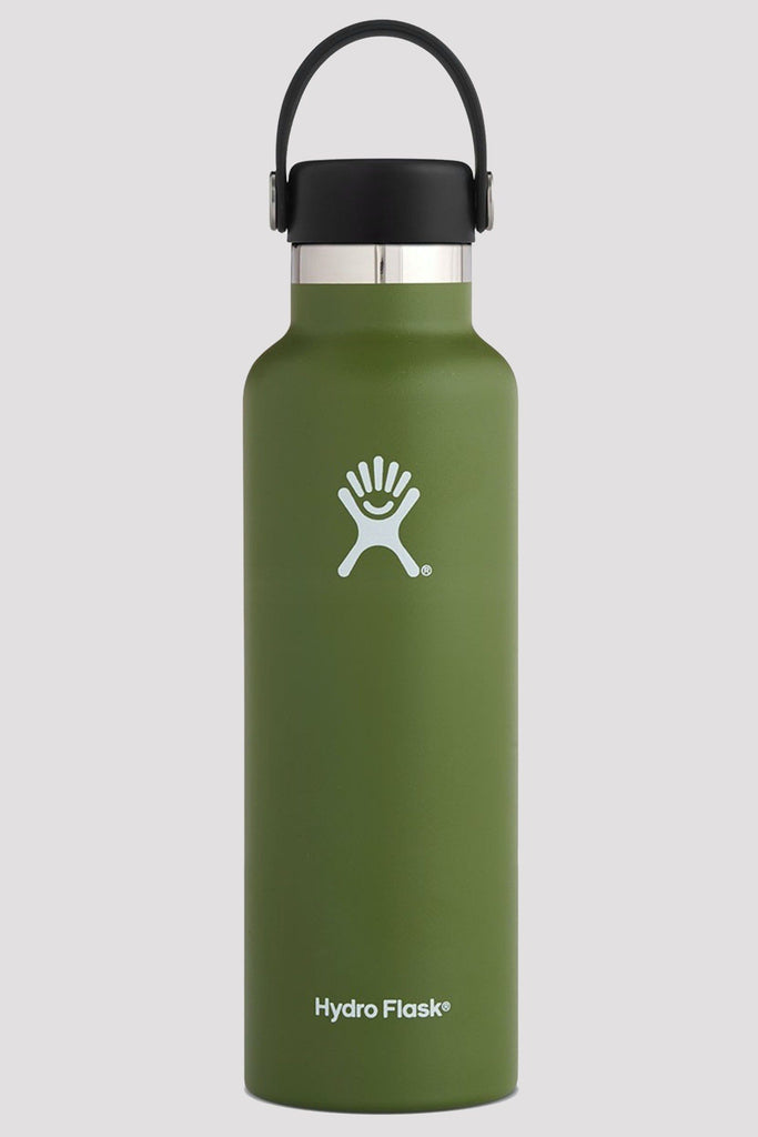Hydro Flask 621mL Standard Mouth Drink Bottle OLIVE