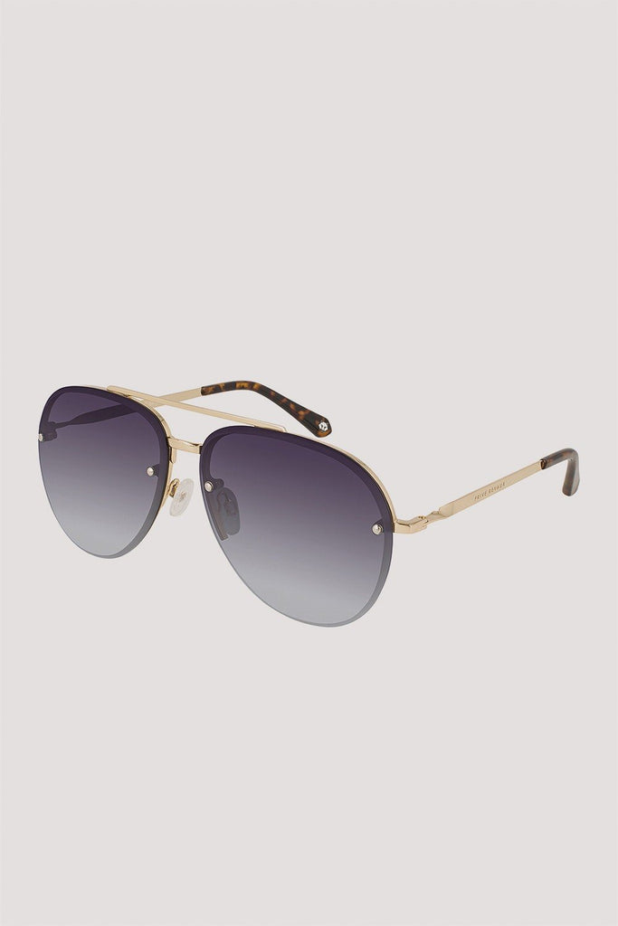PRIVE REVAUX GLIDE SUNGLASSES CHAMPAGNE GOLD/ GREY GRADIENT