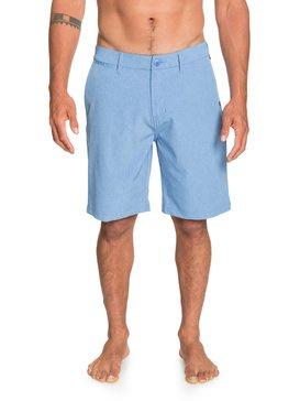 "QUIKSILVER UNION HEATHER 20"" AMPHIBIAN BOARDSHORTS BLUE YONDER 30"