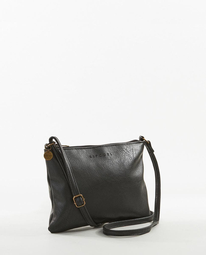 Rip Curl Essentials 2 Festival Bag is a faux leather, cross body bag with zip closure.