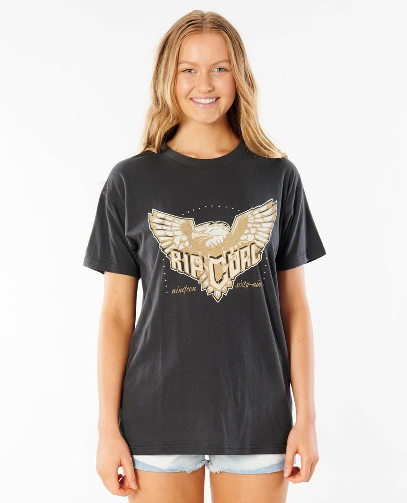 Rip Curl Marigold Rock Tee is a 100% cotton tee with rock style eagle print.