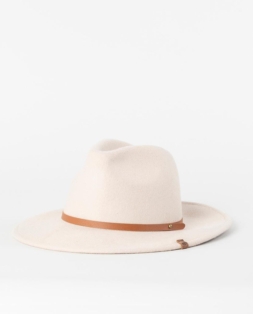 Rip Curl Sierra Wool Panama Hat features a leather headband & wool felt construction.