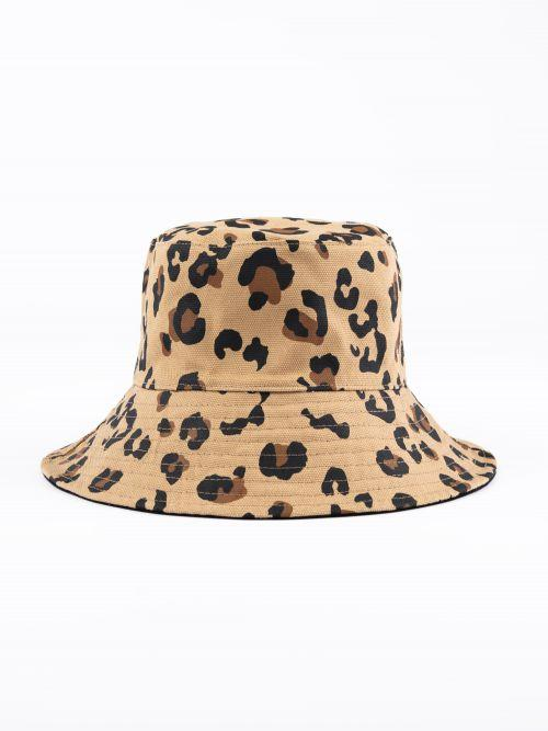 Rusty Cleo Reversible Bucket Hat BLACK LEOPARD SM