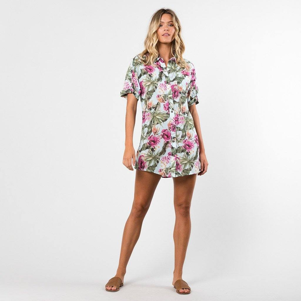 RUSTY OASIS PARTY SHIRT DRESS