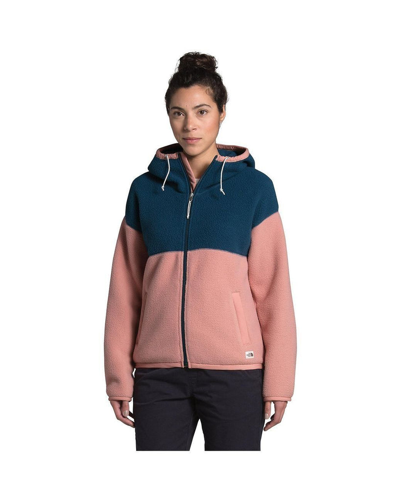 The North Face Cragmont Fleece Full Zip Hoodie Blue Wing Teal / Pink Clay S