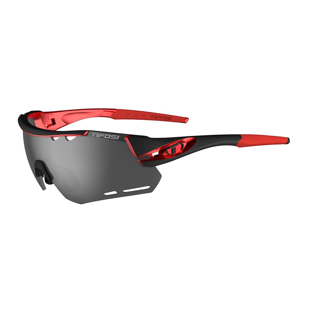 TIFOSI ALLIANT SUNGLASSES Black Red, Smoke, AC Red, Clear Lens