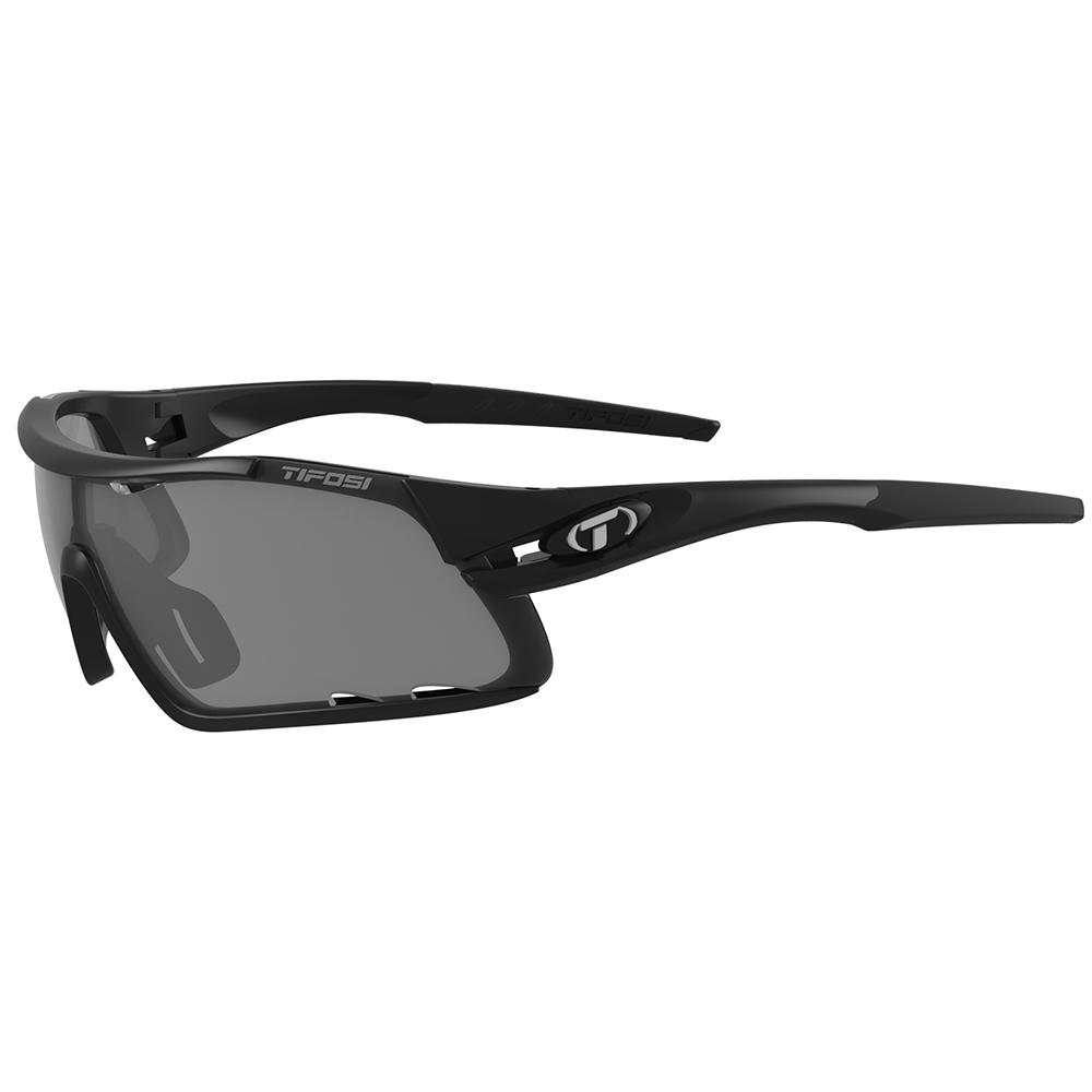 TIFOSI DAVOS SUNGLASSES Matt Black - Smoke / AC Red / Clear Lens