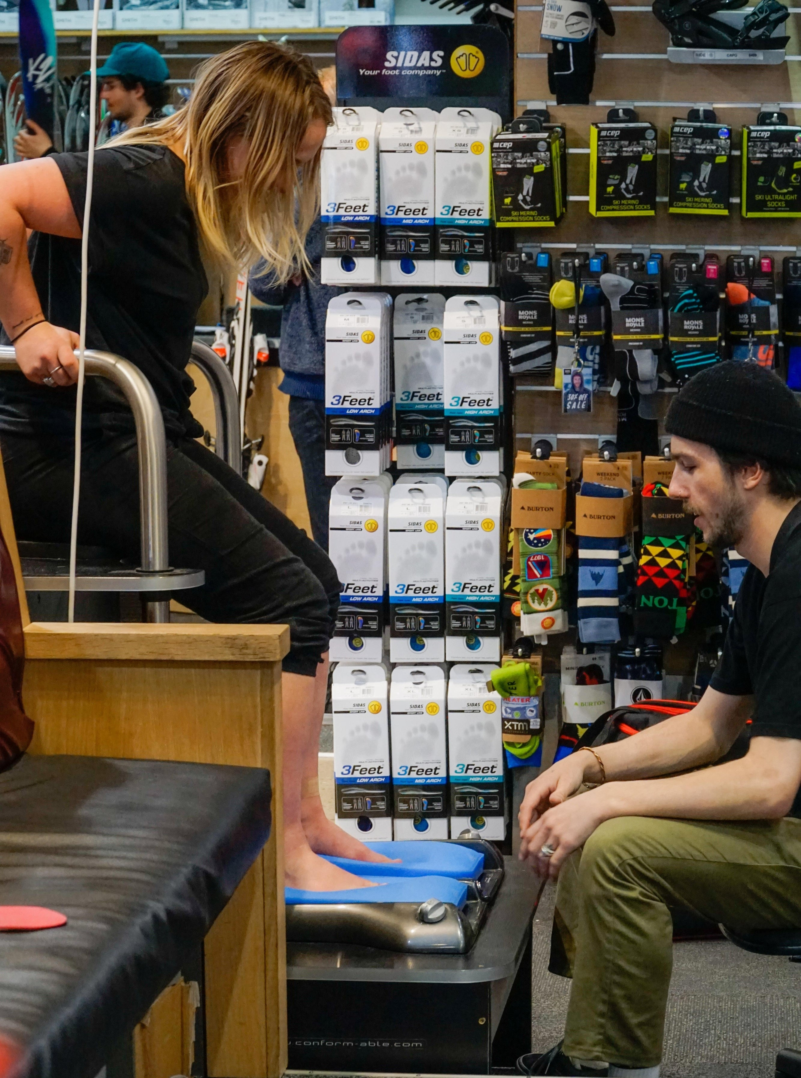 ski and snowboard boot fitting
