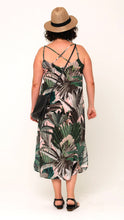 Load image into Gallery viewer, Ella Silk Crepe Slip in Blushing Palms Print