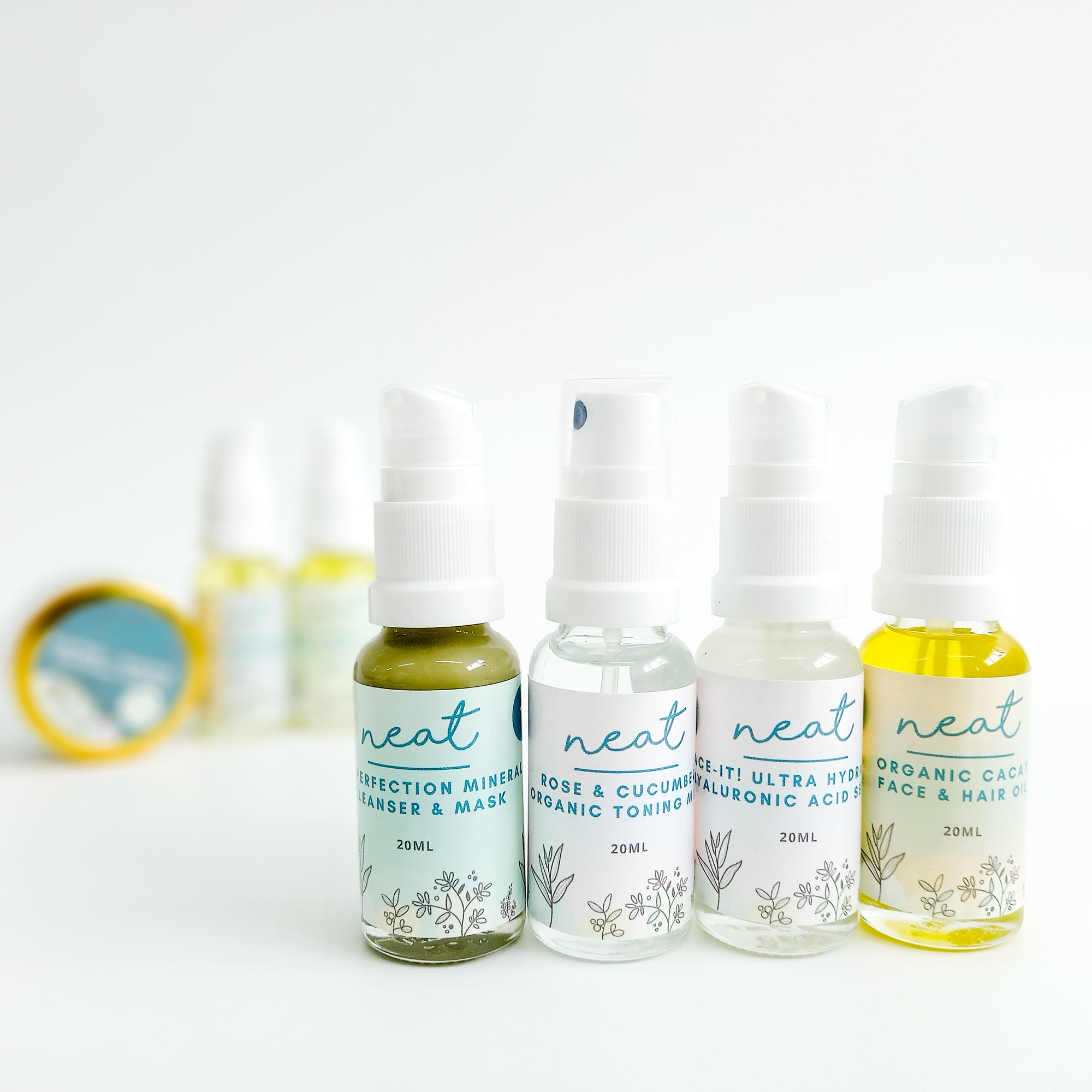 Mini Face Skincare Sample | Travel Set - 100% Natural - Neat