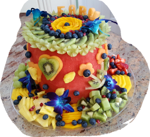 Watermelon Birthday Cake Fruit Platter - Fruits By Pesha