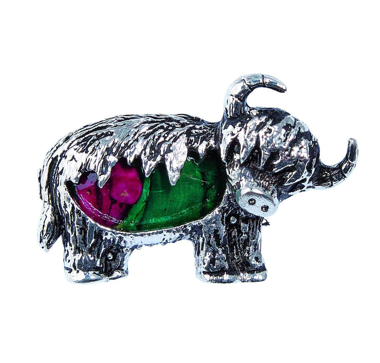 Heathergems Highland Cow Brooch - Dandelion Jewellery