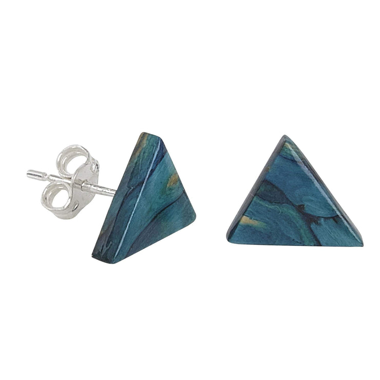 Triangle Stud Silver Earrings - Dandelion Jewellery