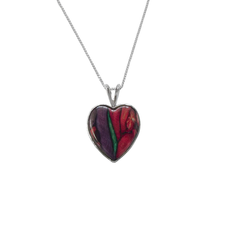 Heart Sterling Silver Heatergem Pendant Necklace - Dandelion Jewellery