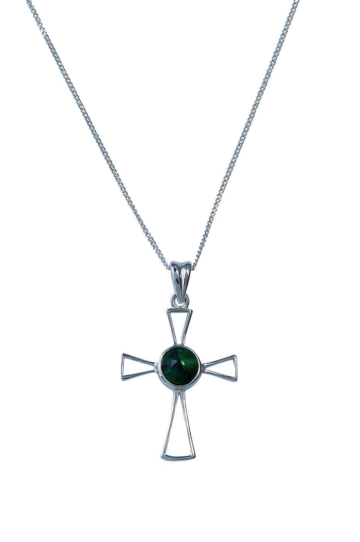 Open Cross Silver Pendant Necklace - Dandelion Jewellery