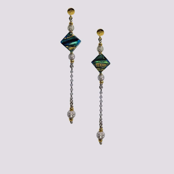 Gold Plated Murano Glass Earrings - Dandelion Jewellery