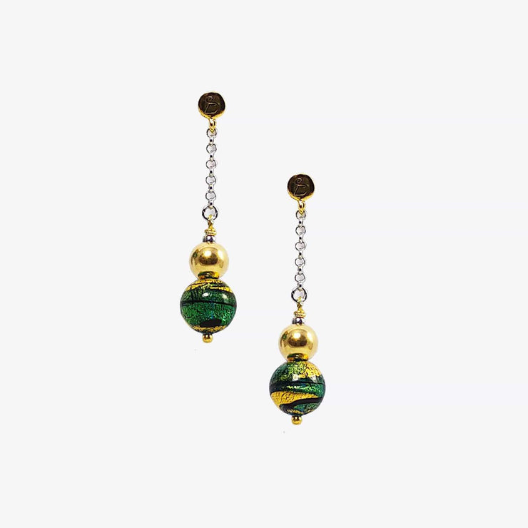Murano Glass Gold Plated  Earrings - OCB 043 Y01 - Dandelion Jewellery