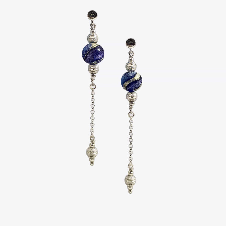 Murano Glass Silver  Earrings - OCR 018 W02 - Dandelion Jewellery