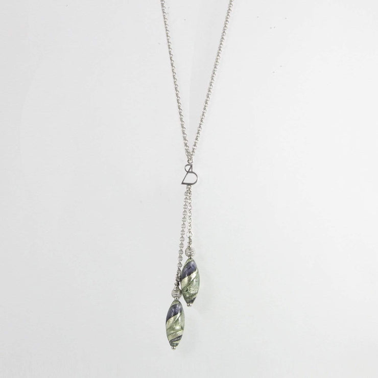 Murano Glass Silver Necklace - CCR 062 W03 - Dandelion Jewellery