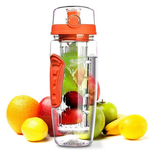 1L Portable water bottle Tritan Drinkware Bottle Fruit Infuser Bottle Juice Shaker travel Sport Water Bottle detox bottle