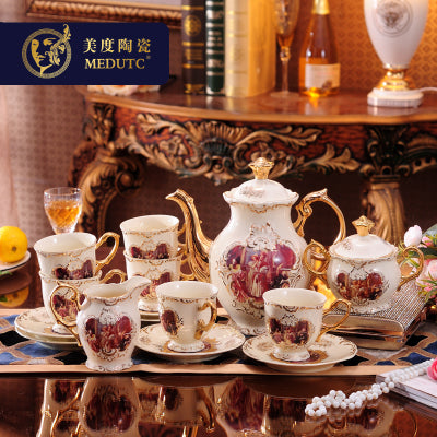 European Coffee Set American Palace Character Cup And Saucer Afternoon Tea Black Home Drinkware Gift