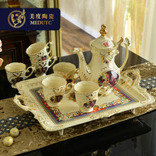 Load image into Gallery viewer, European Bone China Tea Set Coffee Cup Afternoon With Tray Luxury Drinkware Wedding Gift Home Decoration